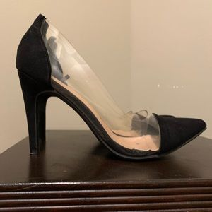 NY&CO black and clear pumps size 8